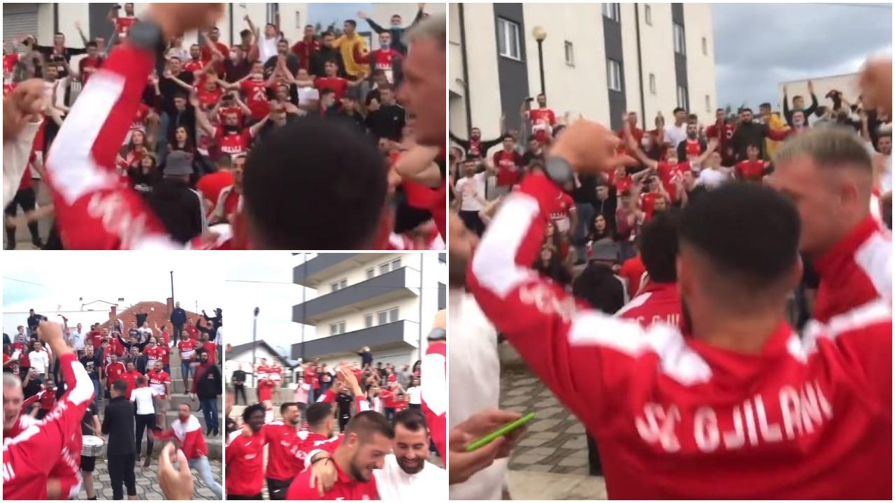 VIDEO/ Në Gjilan nuk pyesin për pandemi, festë e çmendur pas fitores në derbi