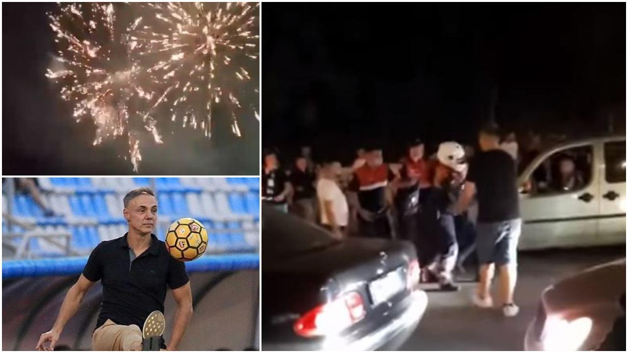 VIDEO/ Mema e presidenti Meta i urojnë titullin Tiranës, policia arreston tifozët