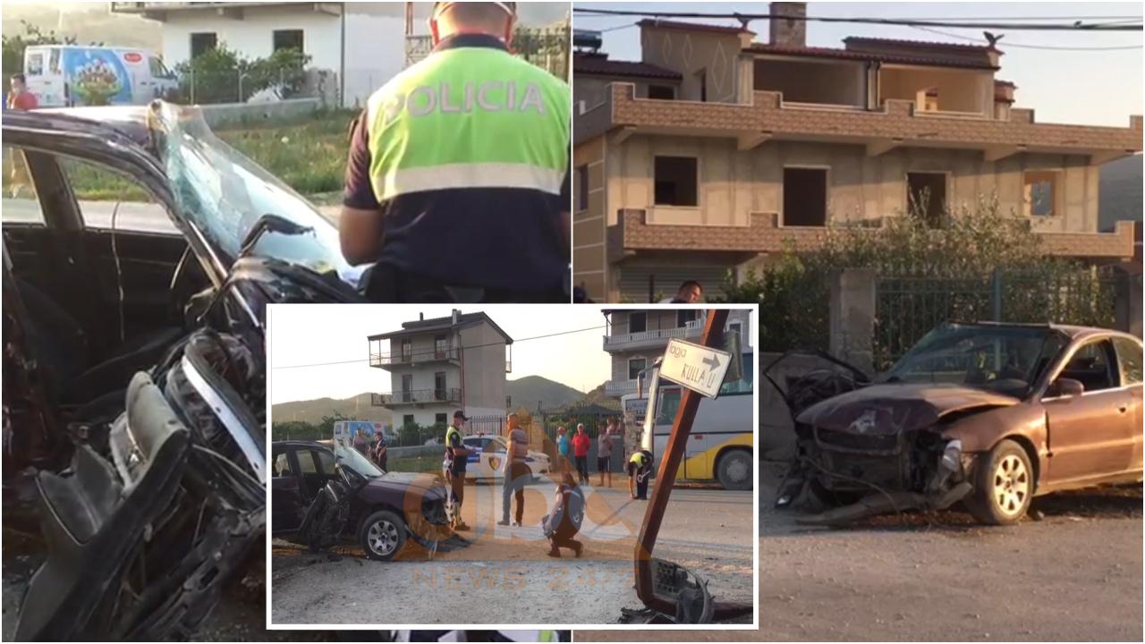 Makina përplaset me murin, dy të plagosur në Berat