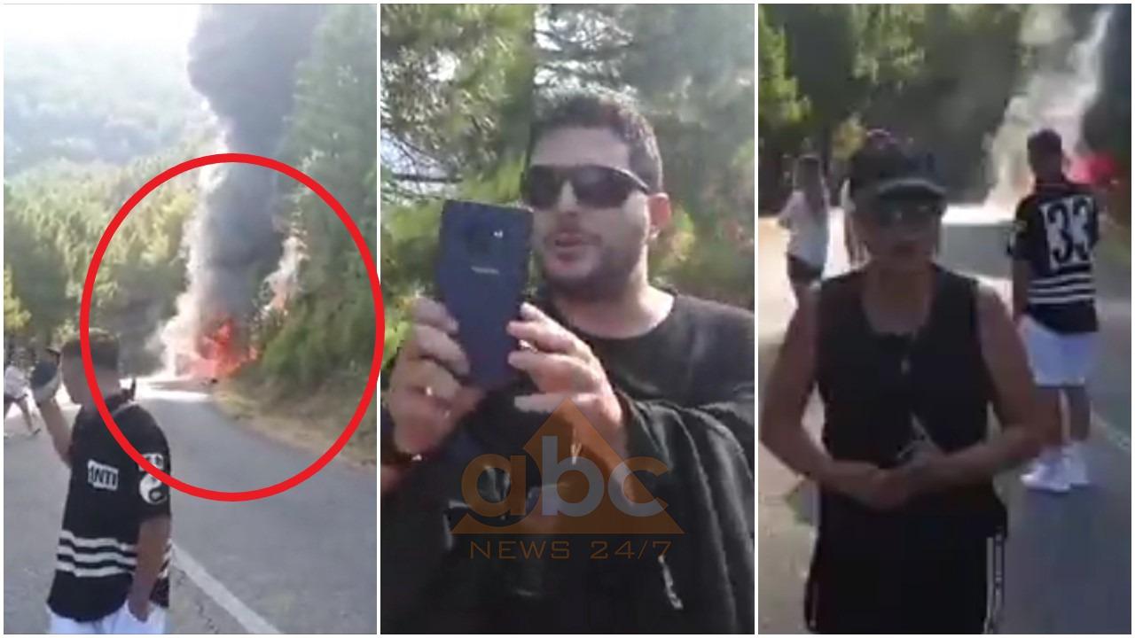 VIDEO/ Shpërthen në flakë fugoni me të cilën udhëtonin, sopranoja Inva Mula dhe VIP-a të tjerë