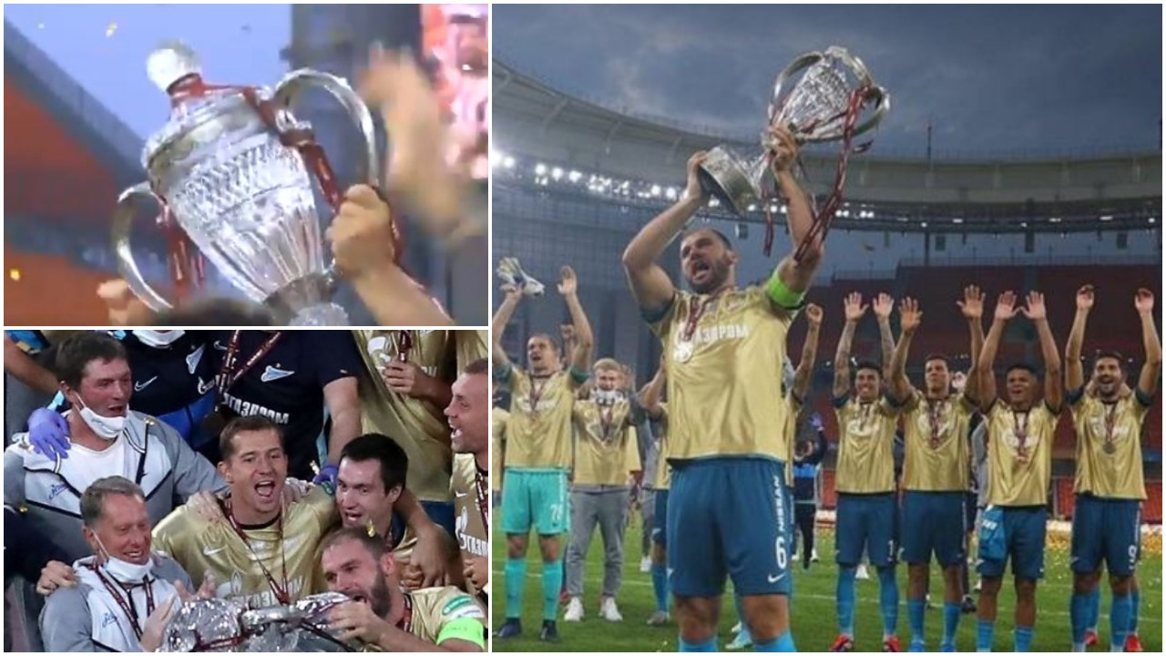 VIDEO/ Zeniti fiton Kupën: Kapiteni serb lë nam, thyen trofeun gjatë festës!