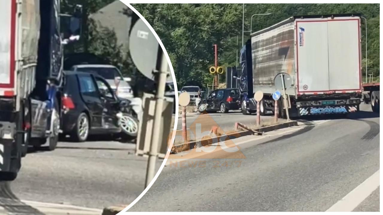 VIDEO/ Kamioni përplaset me autoveturën, plagoset një person, me urgjencë drejt Traumës