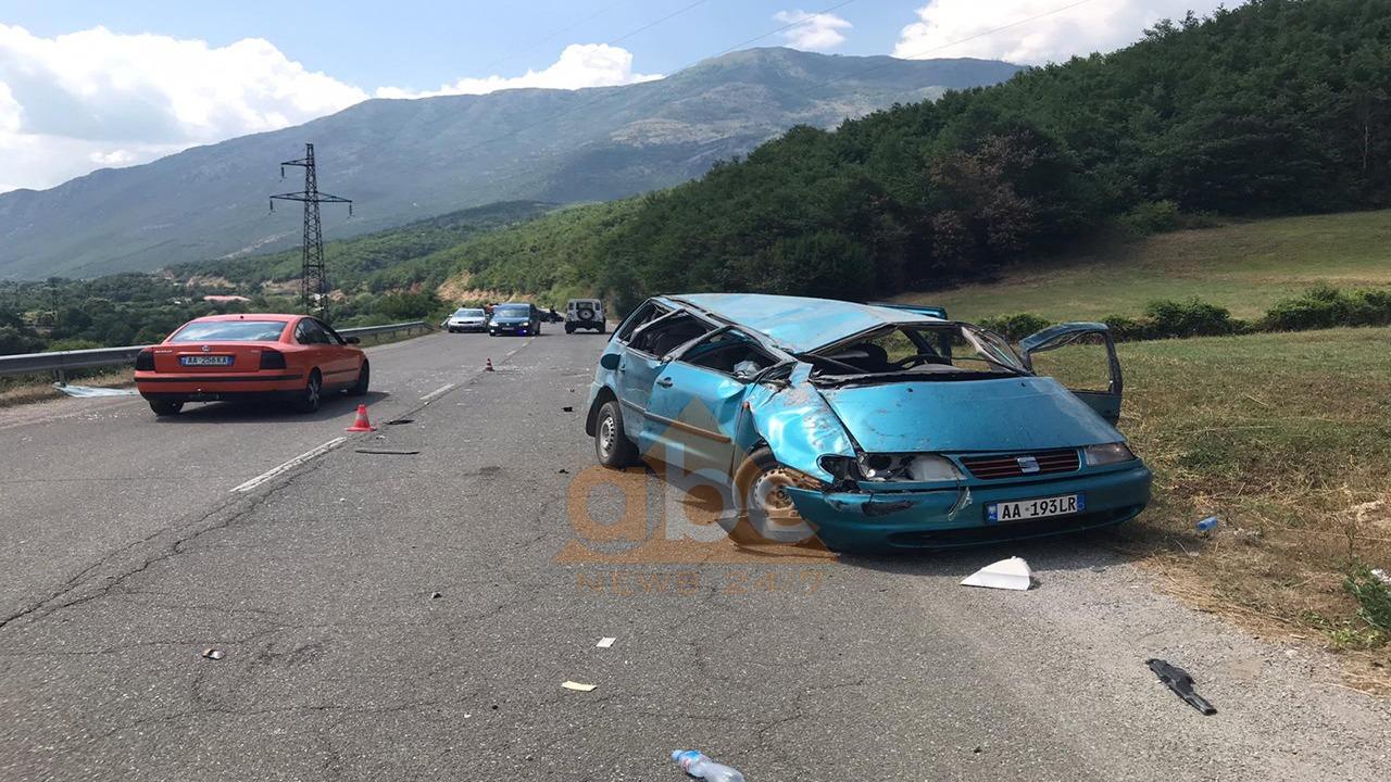 VIDEO/ Tre të plagosur, kështu u katandisën makinat në Bulqizë