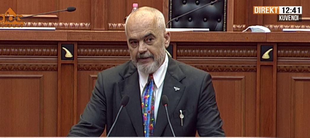"""""""Nuk e grisim marrëveshjen"""", Rama ironizon në Kuvend: Nuk respektoj më shumë Metën se Murrizin"""