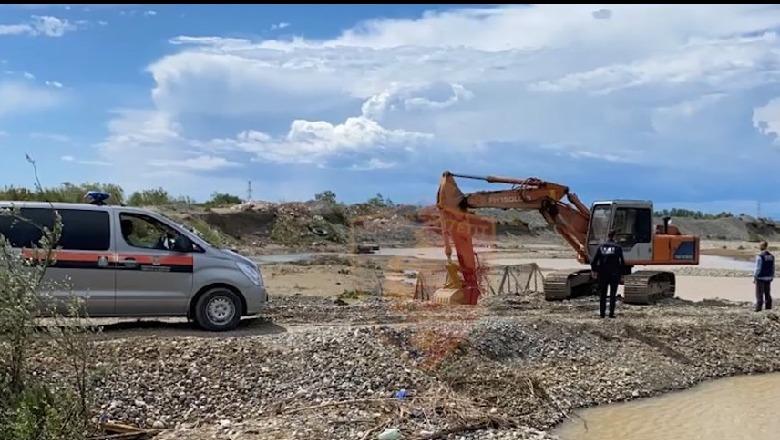 Gërryenin shtratin e lumit Erzen, procedohen penalisht dy person