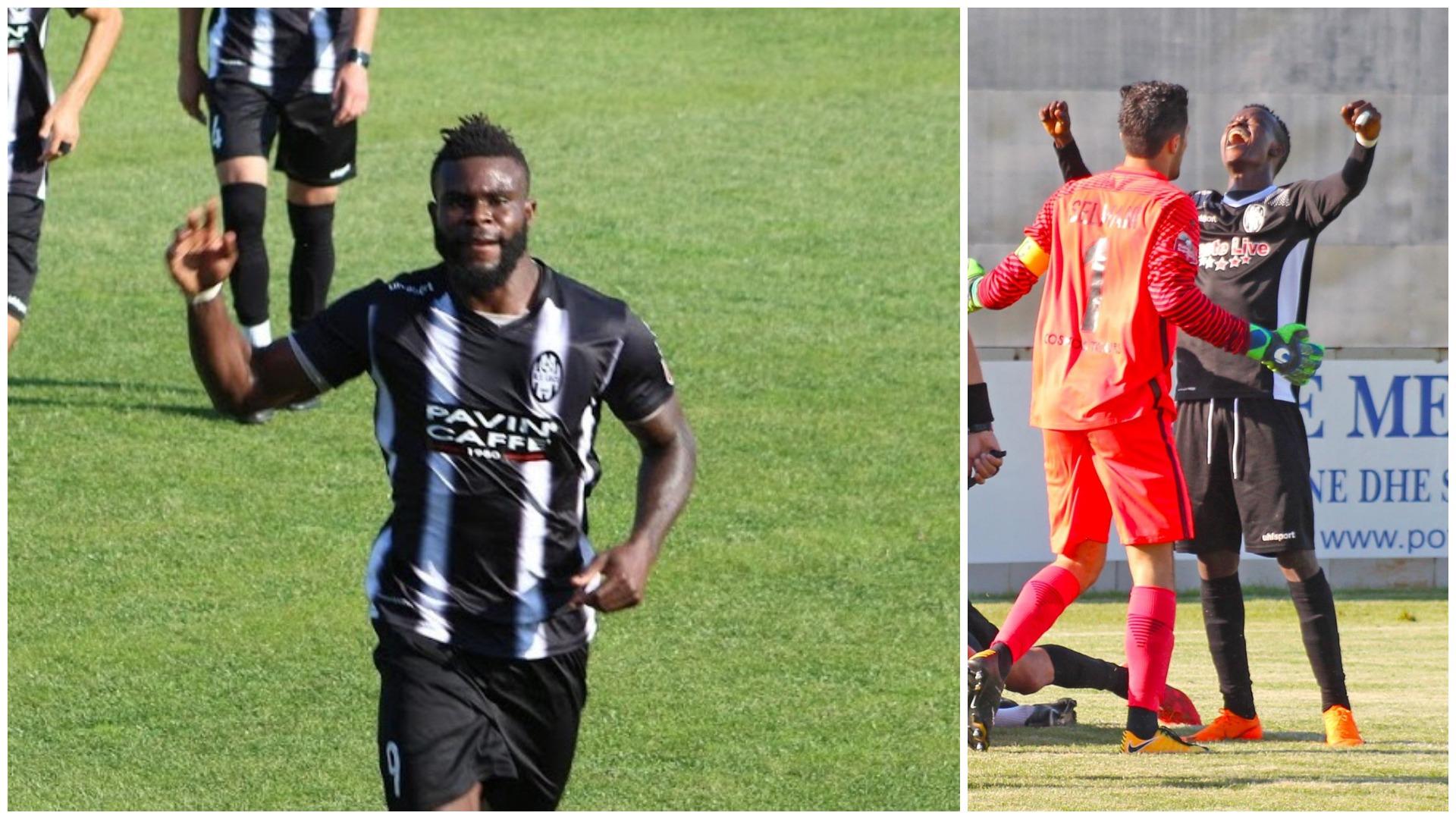 Kyrian Nwabueze kap Reginaldon, tani një gol larg rekordit absolut