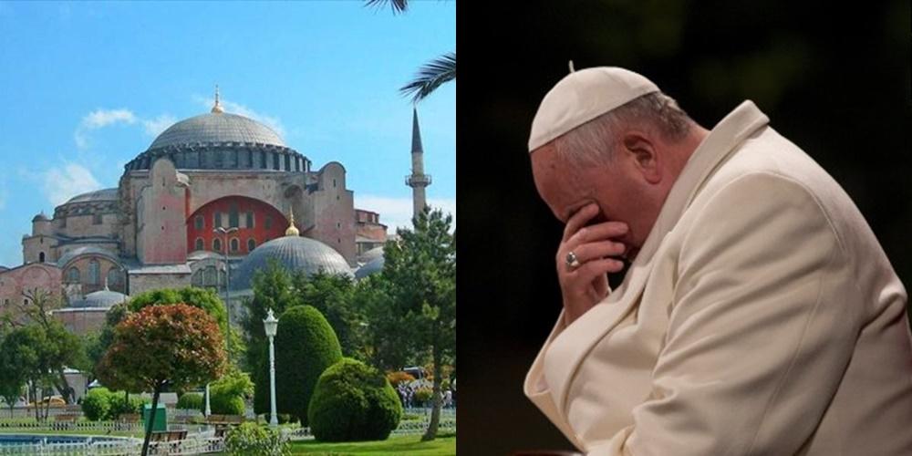 Papa Françesku, i pikëlluar për shndërrimin e Hagia Sophia-s në xhami