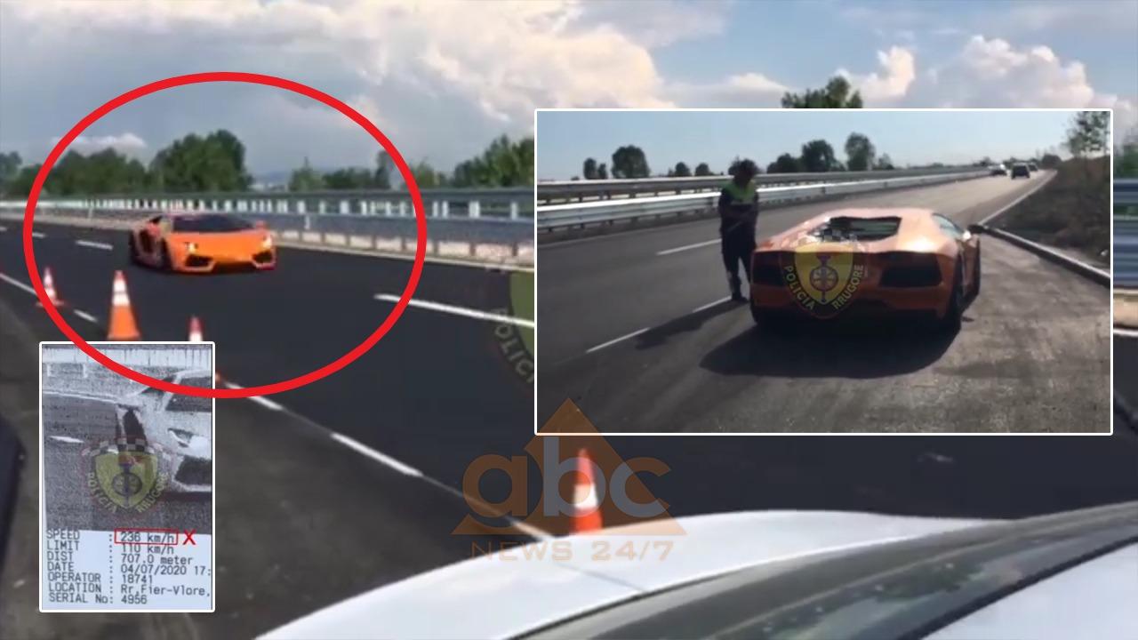 """I """"forti"""" me Lamborghini e pëson keq nga policia"""