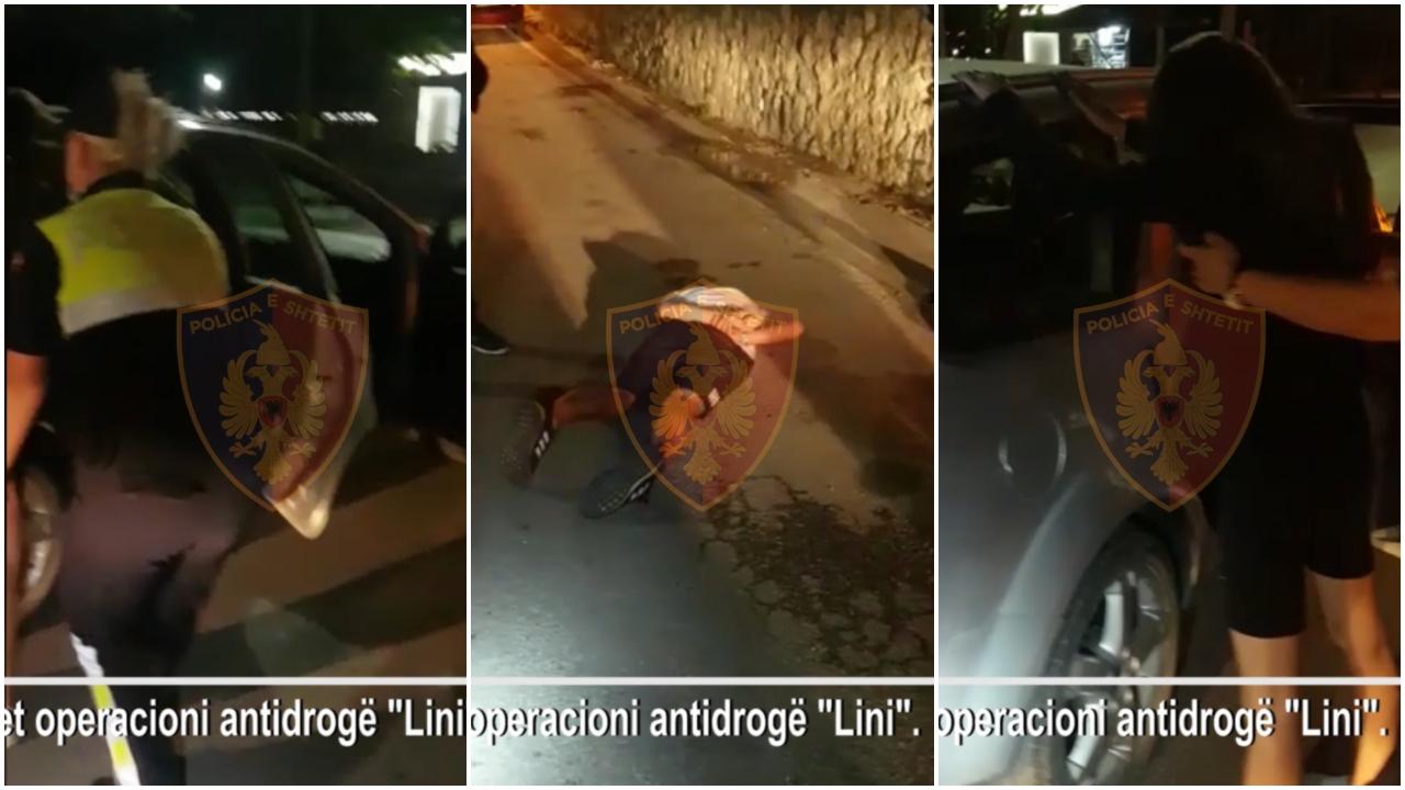 VIDEO/ Transportonin lëndë narkotike, arrestohet shoferja dhe dy persona të tjerë