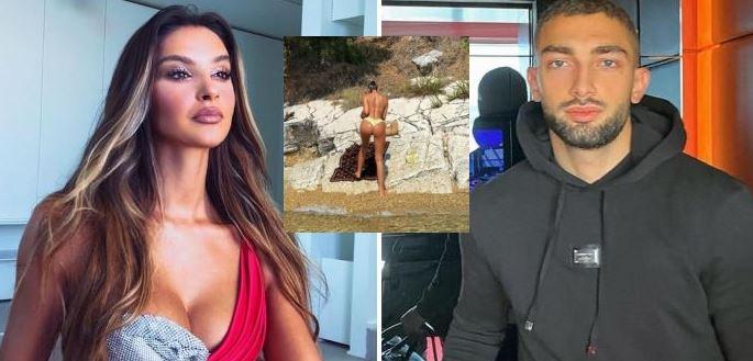 FOTO/ Pushime me Eros Grezdën? Oriola Marashi pozon topless në Ksamil