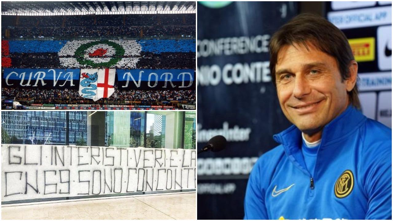 Pankartë në zyrat e Interit, ultrasit zikaltër në mbështetje të Contes