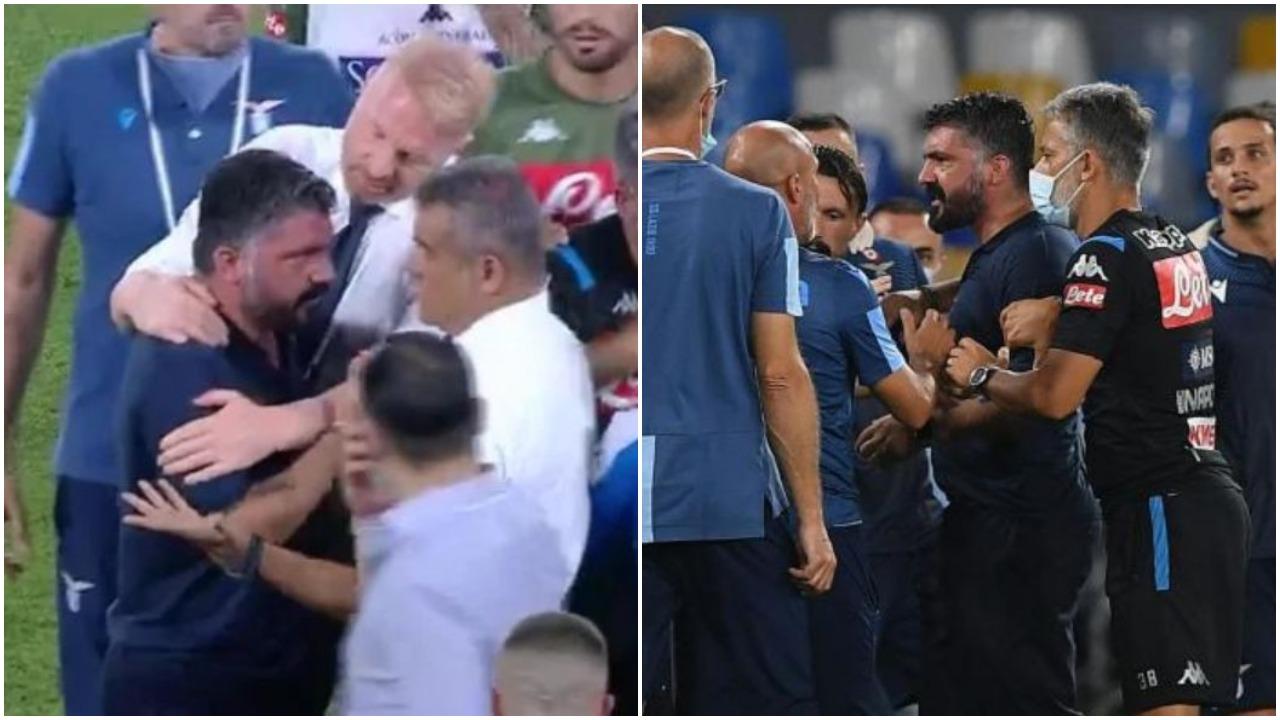 """VIDEO/ """"Hajde ma thuaj në sy atë fjalë"""", Gattuso acarohet keq! E qetëson Tare"""