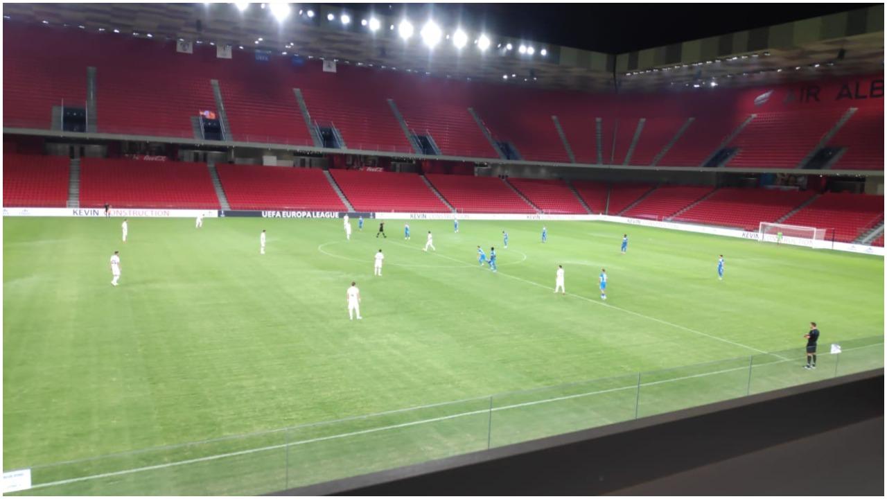 VIDEO/ Kukësi në avantazh ndaj Slavia Sofia, sulmuesi Eze debuton me gol
