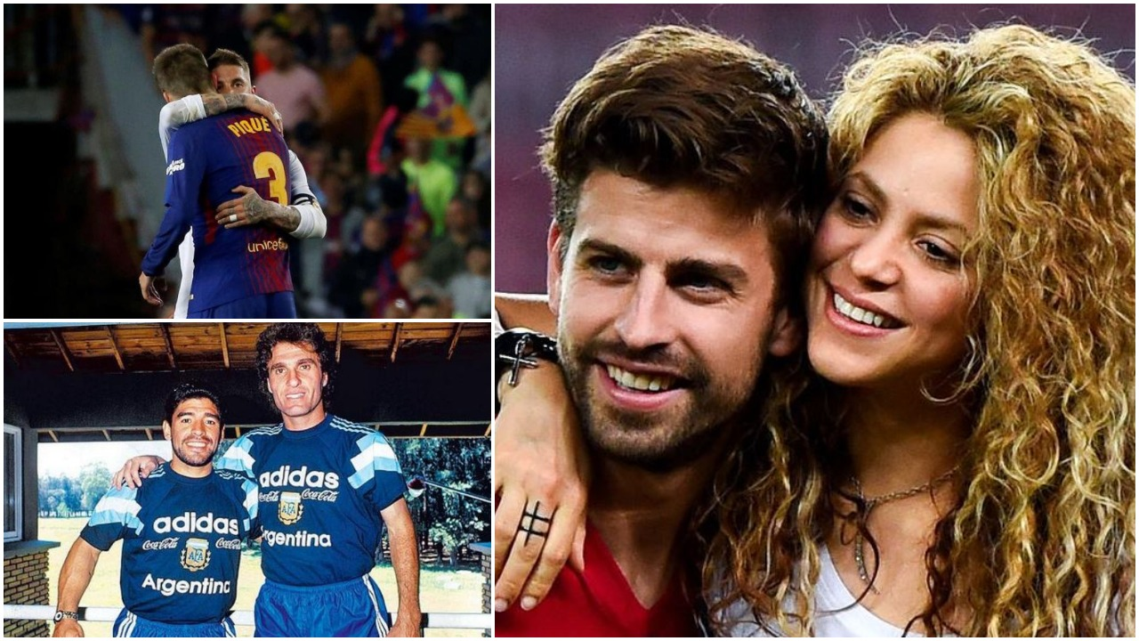 """""""Pique mbrojtës normal, i rroftë mjekra dhe e dashura e famshme. Ramos më i miri"""""""