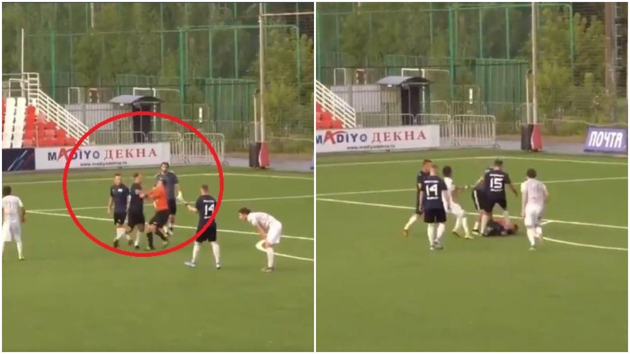 VIDEO/ Çmendet ish-mesfushori i Rusisë, grushte dhe shkelma arbitrit kryesor