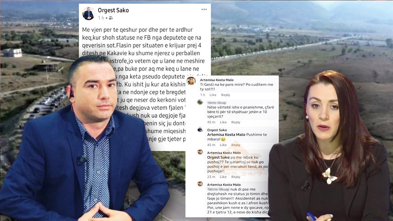 Kaosi në Kakavijë, gazetari: Pseudo deputetë që llapni në FB! Deputetja e PS: Na ke parë mirë?!
