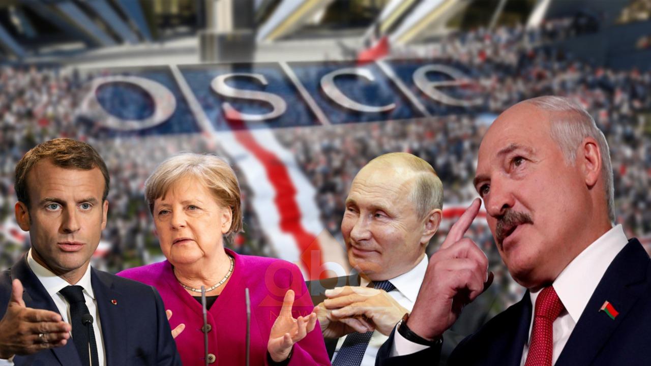 """Macron, Merkel dhe Putin pro ndërmjetësimit të OSBE në çështjen e Bjellorusisë, Lukashenko me """"dy mendje"""" - Abc News"""