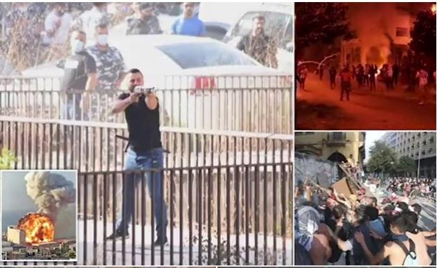 Truproja i kreut të Kuvendit filmohet duke qëlluar me armë ndaj protestuesve në Liban