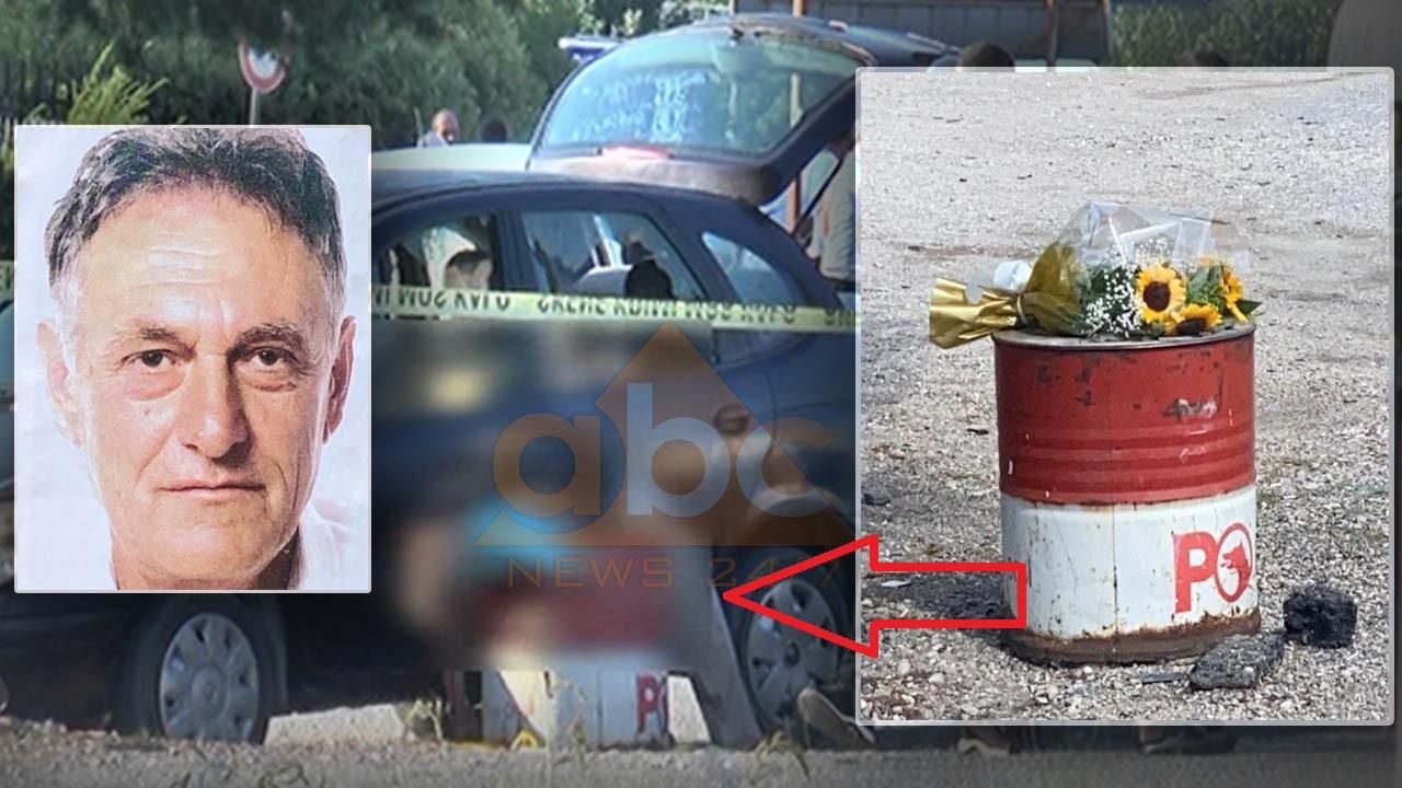 FOTO/ Familjarët e taksistit të vrarë për çështje nderi, vendosin lule në fuçinë ku u gjet i pajetë
