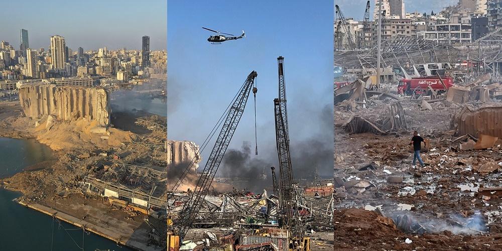 """Shkalla e shkatërrimit të shpërthimit që """"shfarosi"""" Beirut-in dhe la 300,000 persona të pa strehë"""