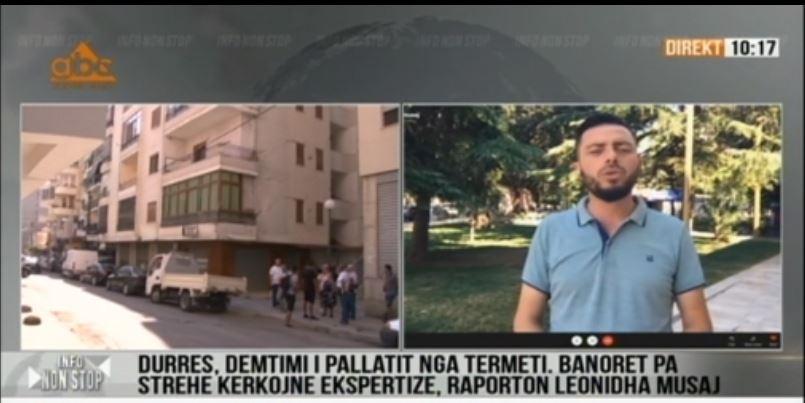 Pallati i dëmtuar nga tërmeti, protestojnë banorët në Durrës: Kërkojnë ekspertizë