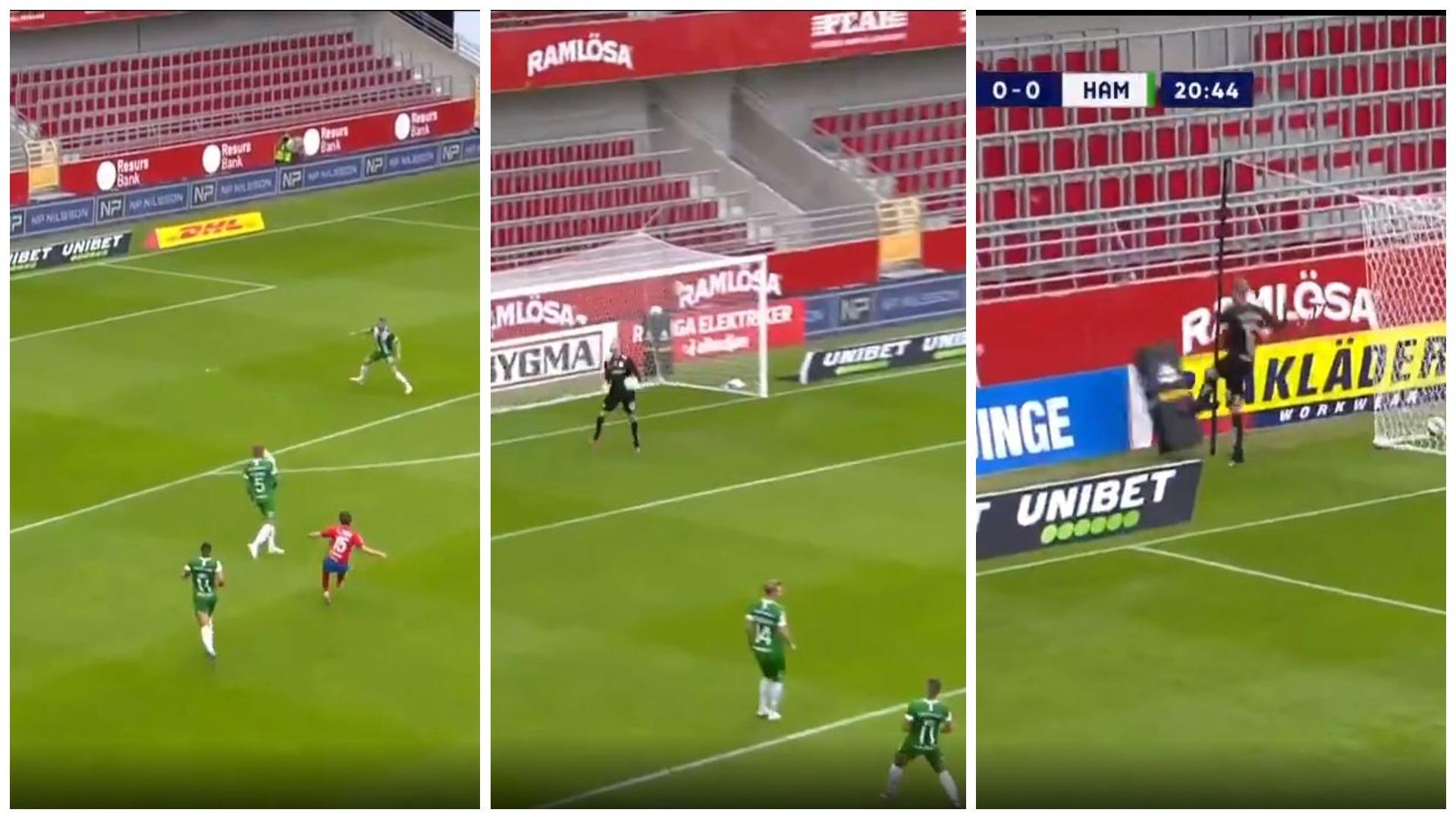 """VIDEO/ Gafë dhe tërbim, portieri danez bëhet """"hit"""" me golin e pësuar"""