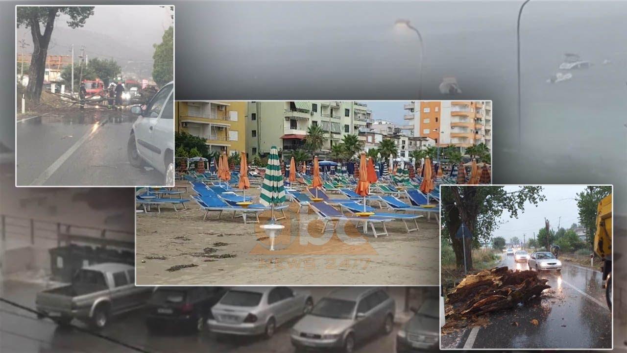 """Pas ditëve të nxehta vendi """"pushtohet"""" nga mot me reshje dhe stuhi, situata në disa qytete"""