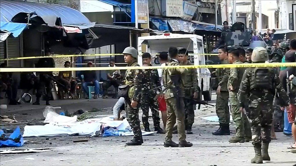 Dy shpërthime të fuqishme në Filipine, raportohen 9 t֝ë vdekur dhe dhjetëra të plagosur