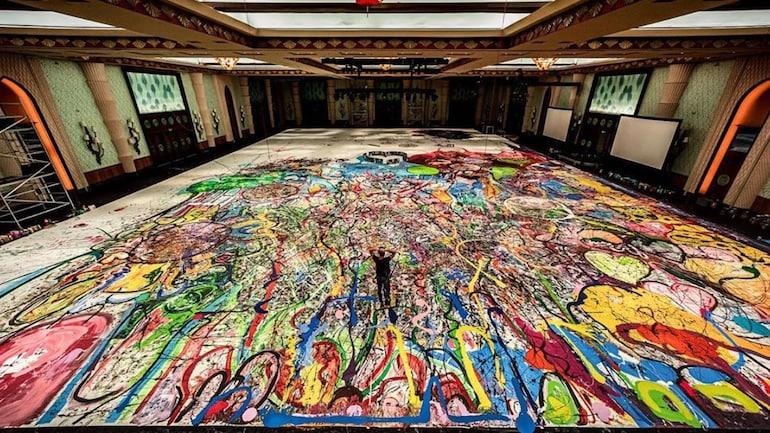 Sa 4 fusha basketbolli, artisti krijon pikturën më të madhe në botë gjatë karantinës