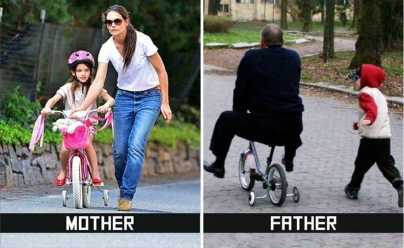 10 ndryshimet komike midis nënave dhe baballarëve
