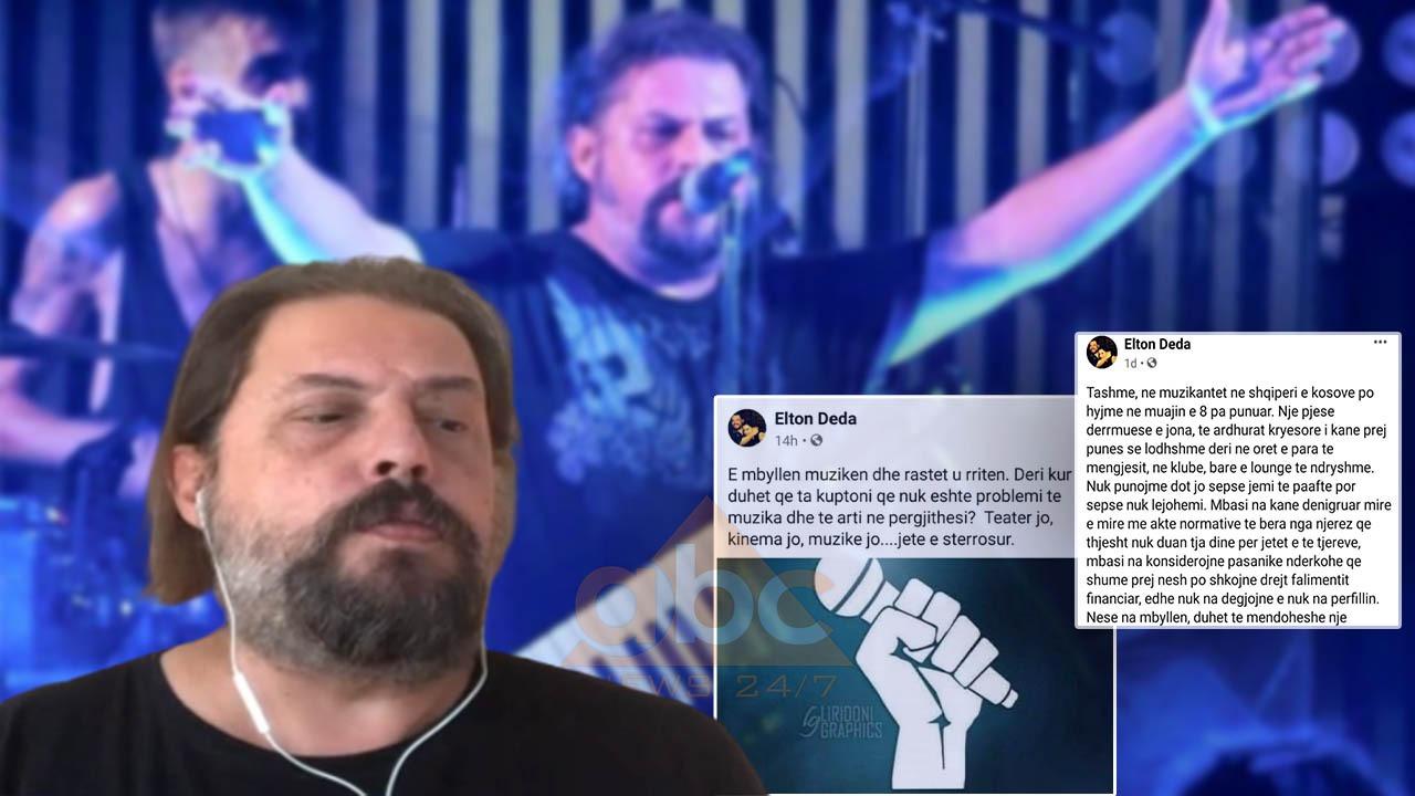 """""""Muzikantët 8 muaj pa punë"""", revoltohet Elton Deda: Jemi drejt falimentimit, mbështetja është zero"""