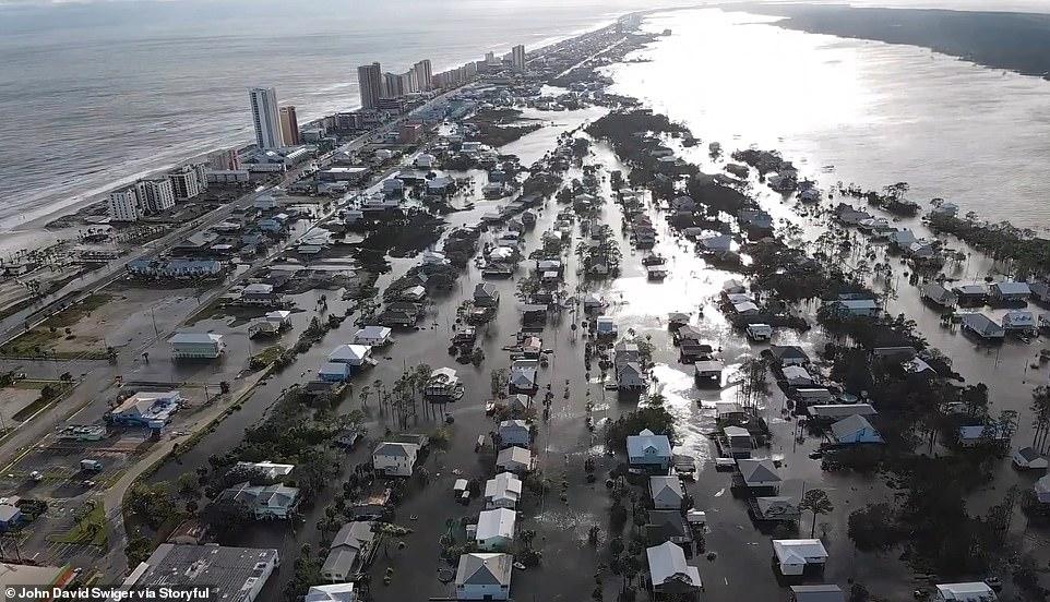 Pamjet me dron, shkatërrimi që la pas uragani Sally në SHBA-në jugore