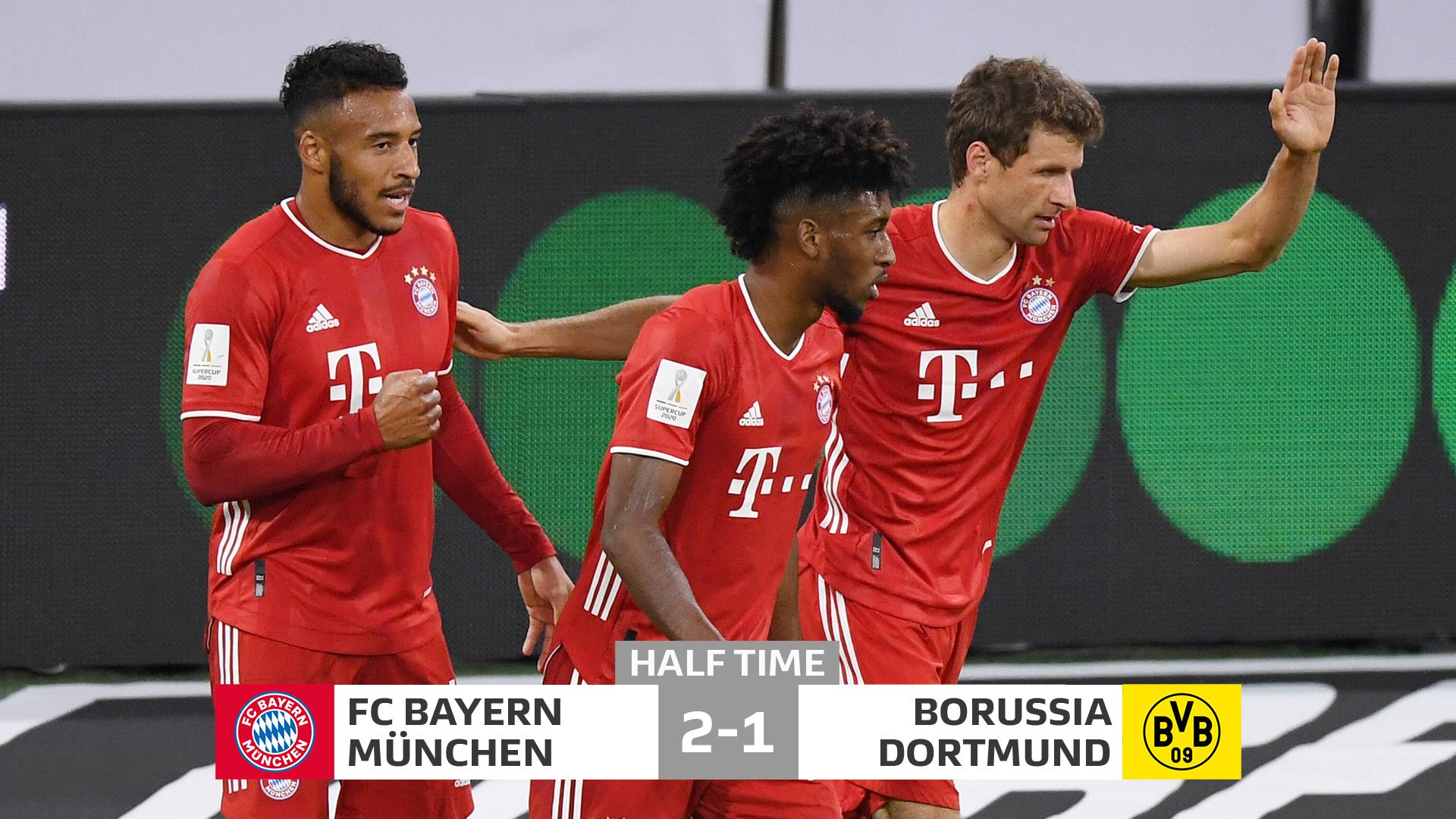 """VIDEO/ Bayern dominues në pjesën e parë, Dortmund ende """"gjallë"""""""