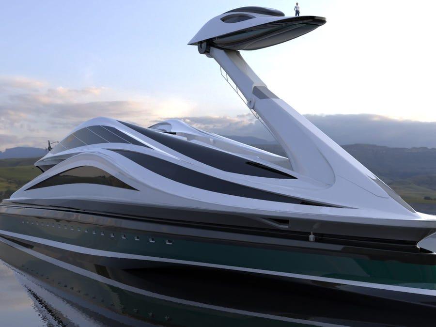 Megajahti 500 milion dollarësh i projektuar si një mjellmë