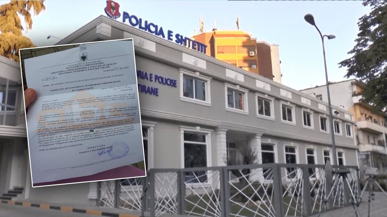 Ekskluzive/ Zbulohet shkresa e policisë që refuzoi lejen për protestën e mjekëve: Ju rrezikohet jeta