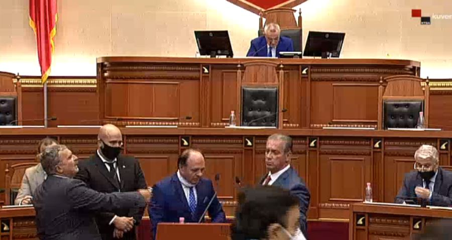 Parliamentary session is interrupted twice