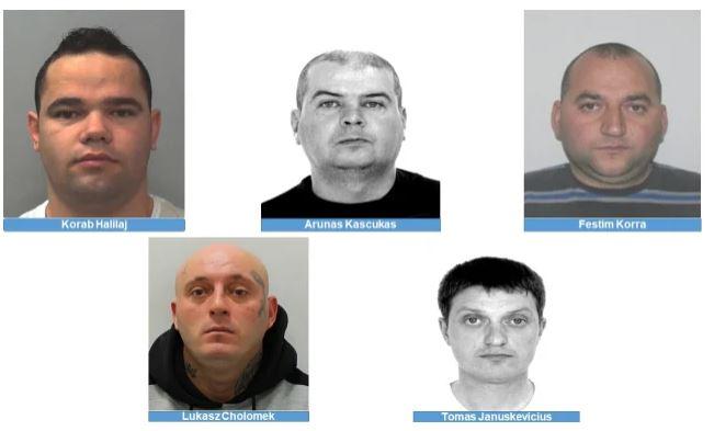 Vrasje dhe drogë, autoritetet britanike në kërkim të 5 personave, mes tyre 2 shqiptarë