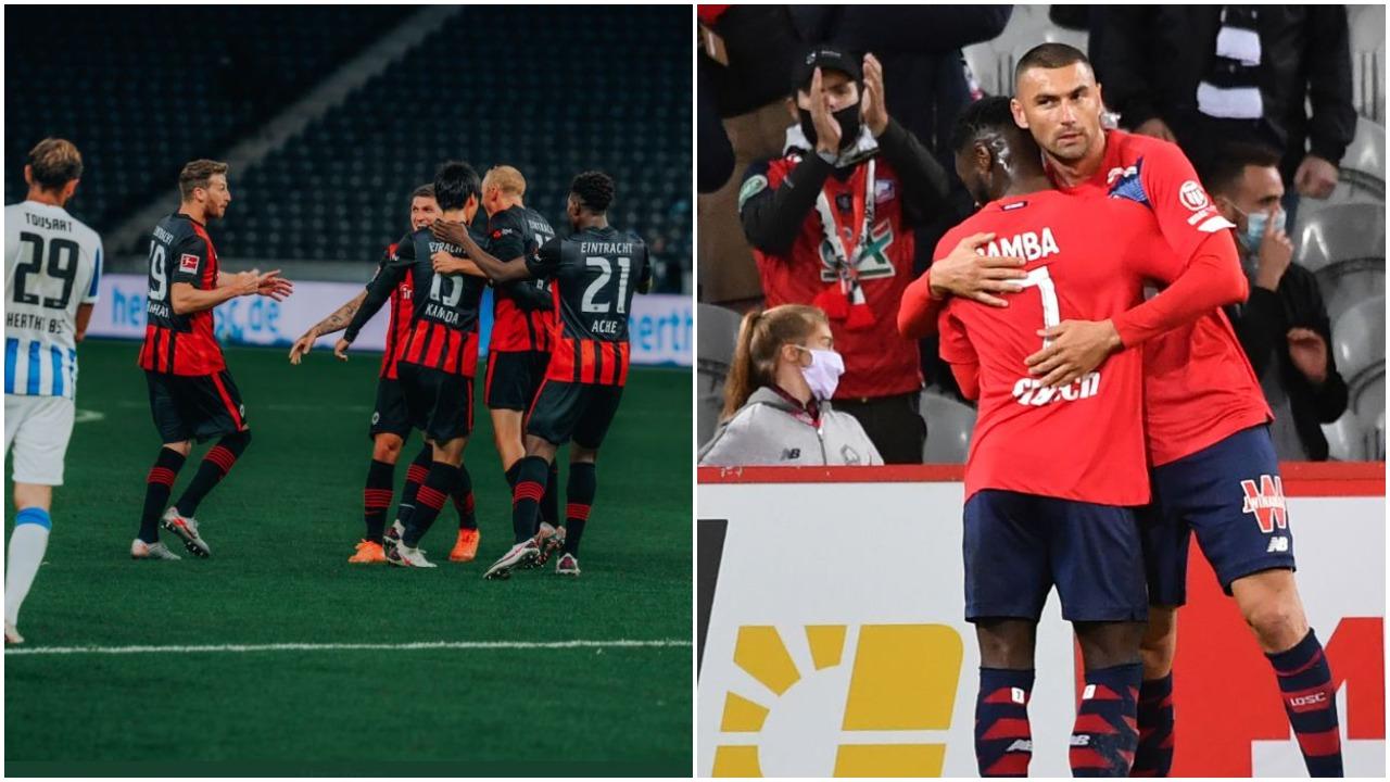 VIDEO/ Fitorja e parë në kampionat për Eintracht, Lille në krye të Ligue 1