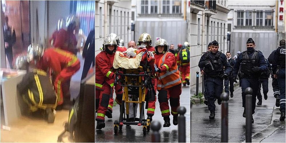Sulm me thikë në ish-zyrat e Charlie Hebdo në Paris: 2 të plagosur, arrestohet 1 nga autorët