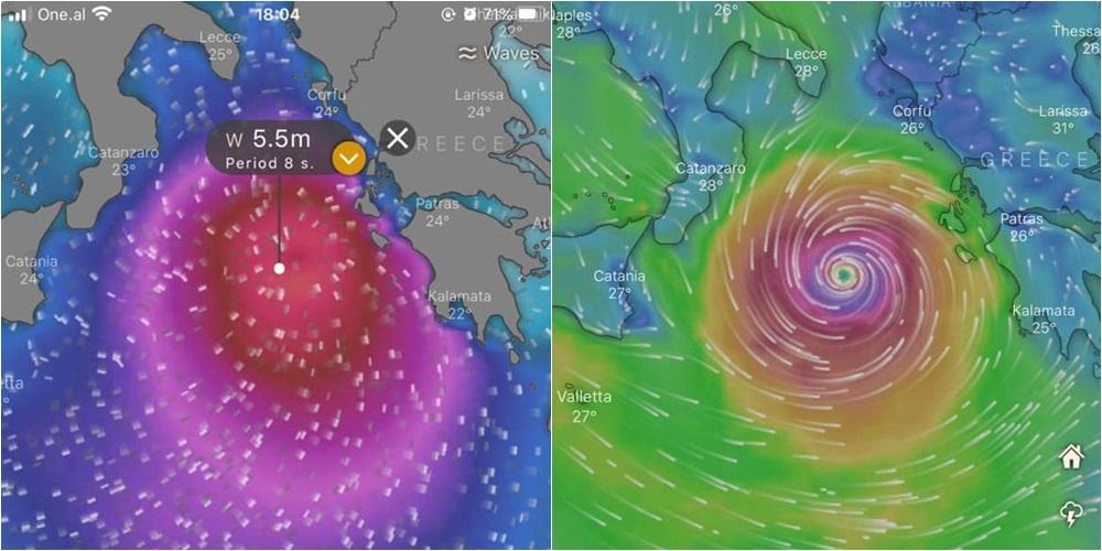 Cikloni po i afrohet brigjeve të Jonit, ndiqeni LIVE këtu përmes satelitit