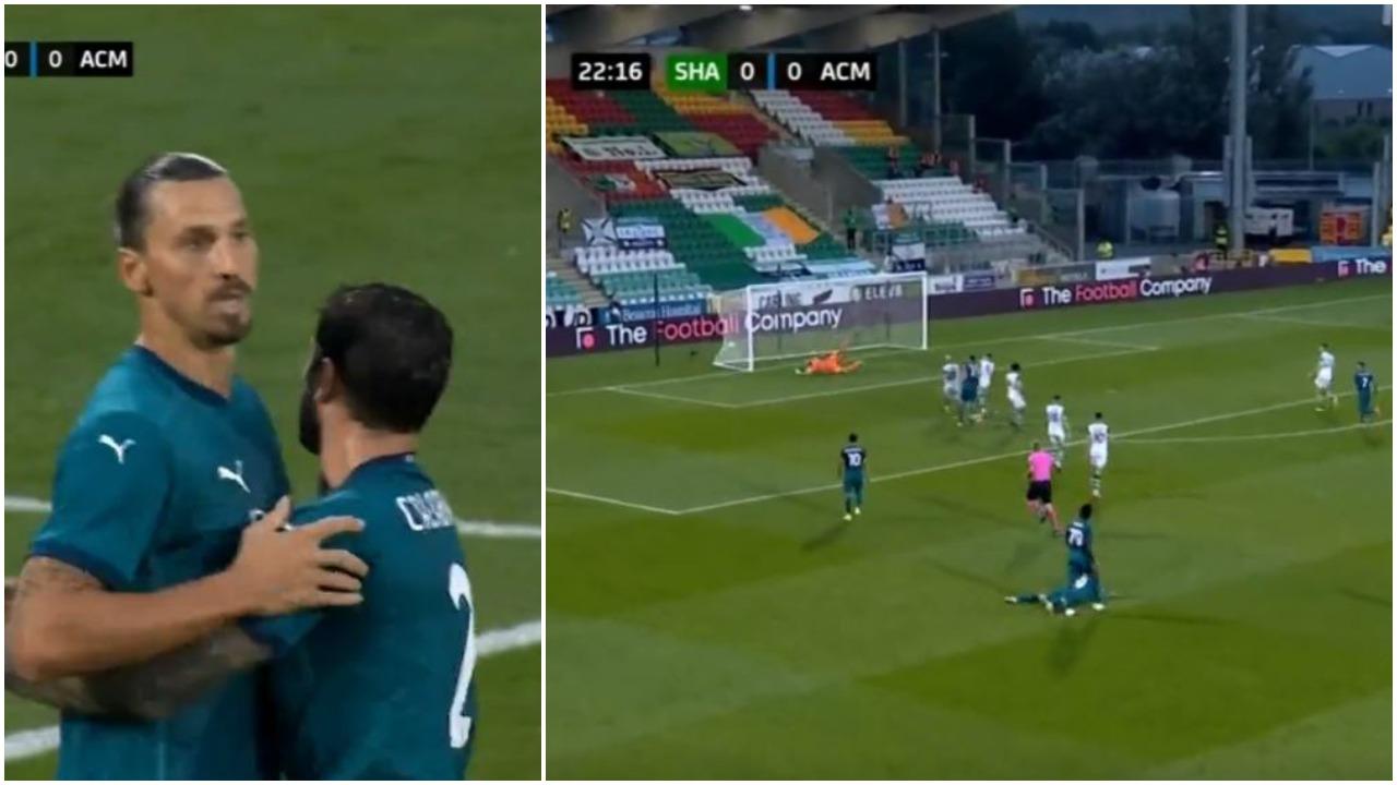 VIDEO/ Ibra gjen golin e parë europian për Milanin, ndëshkon Shamrock!