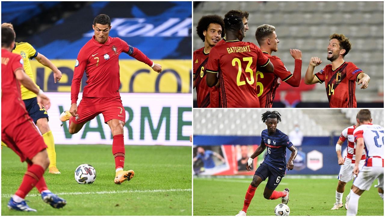 VIDEO/ Belgjika me 5 yje, fitore dhe për Francën e Portugalinë