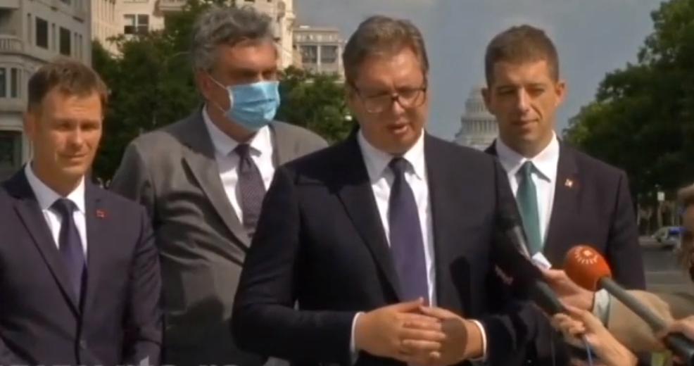 Vuçiç nga Uashingtoni: Pika që flet për njohjen e Kosovës nuk është më në dokument