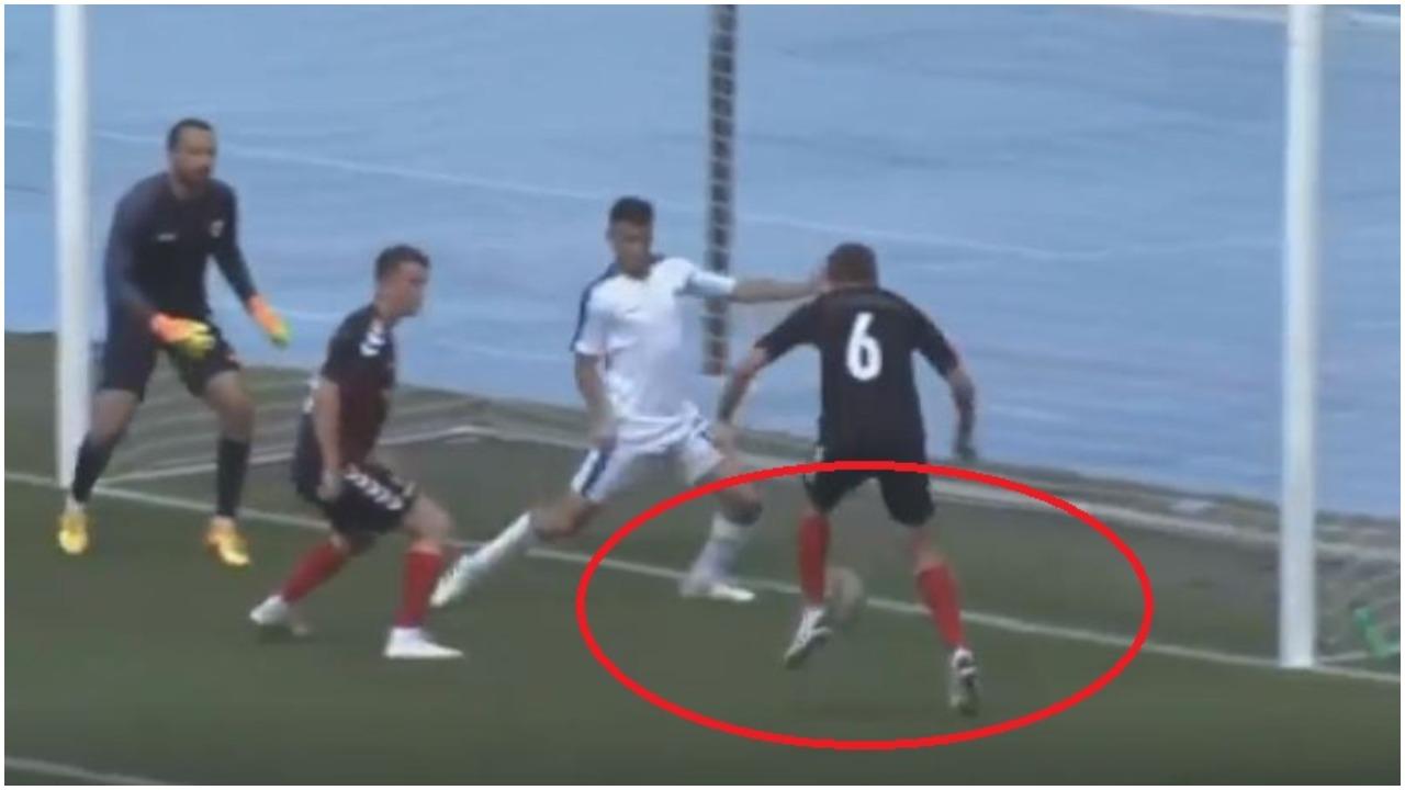 VIDEO/ Gafa e fundjavës vjen nga Maqedonia, lojtari i Vardarit lë nam në derbi