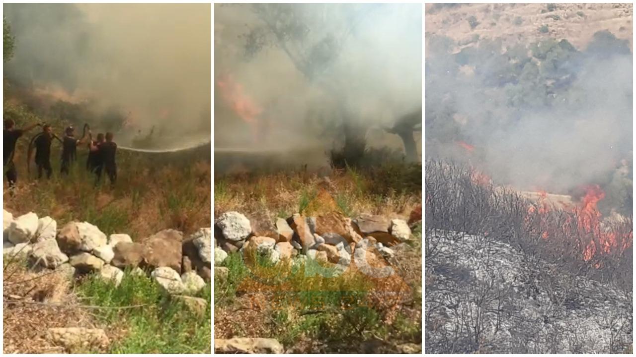 VIDEO/ Zjarr në Delvinë, banorët kërkojnë ndihmën e helikopterit