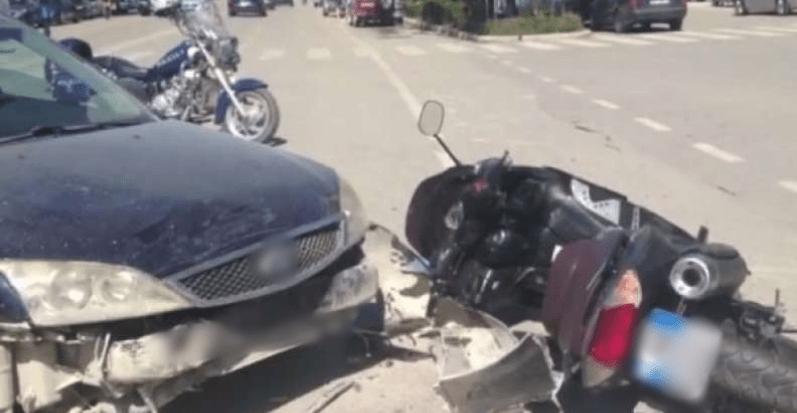 Makina përplaset me motorin, një i lënduar në Bulqizë