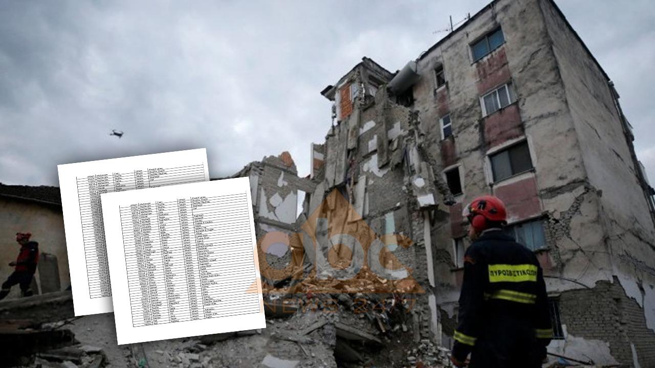 Zbulohet lista, ja 1500 personat që marrin lekët në dorë për dëmet nga tërmeti në Tiranë