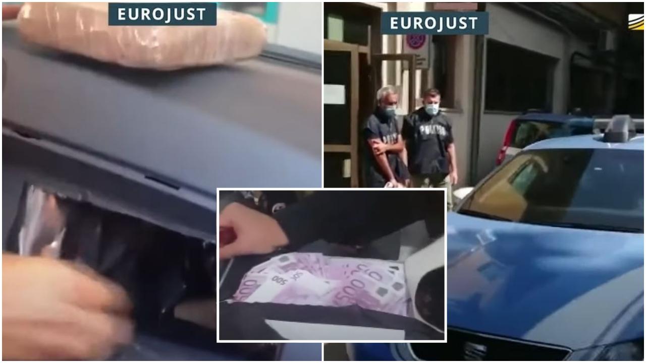 """Çanta e mbushur me """"500-çe"""" dhe kokaina me kode! Pamjet e operacionit që shkatërroi kartelin shqiptar"""