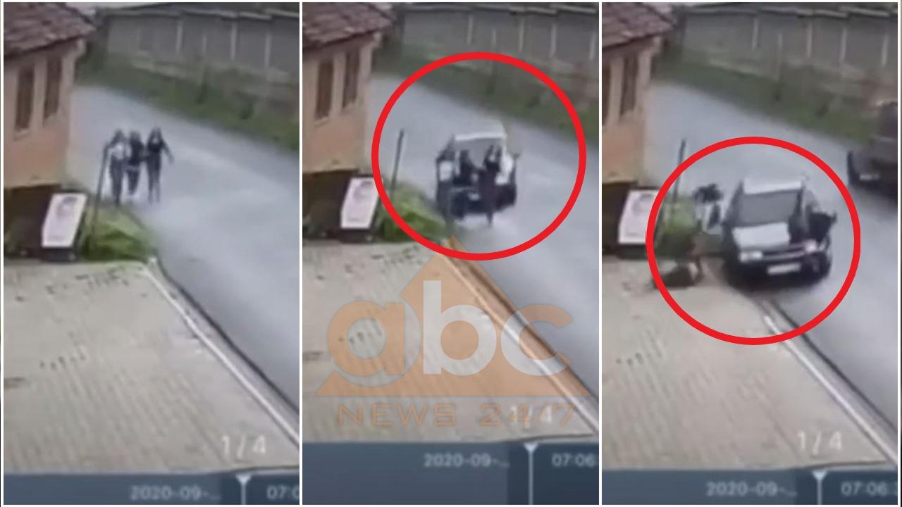 Po shkonin në shkollë, makina hedh në ajër tre vajza (Shikoni pamjet)