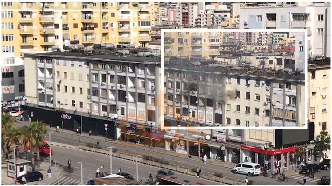 Përfshihet nga flakët apartamenti në katin e katërt të një pallati në Durrës